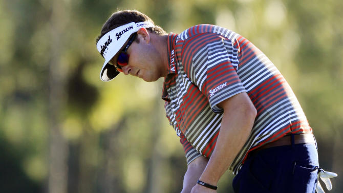 Charlie Beljan putts on the 15th green during the second round of the Children's Miracle Network Hospitals golf tournament in Lake Buena Vista, Fla., Friday, Nov. 9, 2012. (AP Photo/Julie Fletcher)