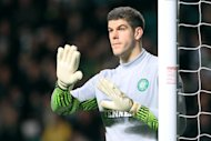 Fraser Forster, pictured, has been hailed as &#39;fantastic&#39; by his Celtic team-mate Joe Ledley