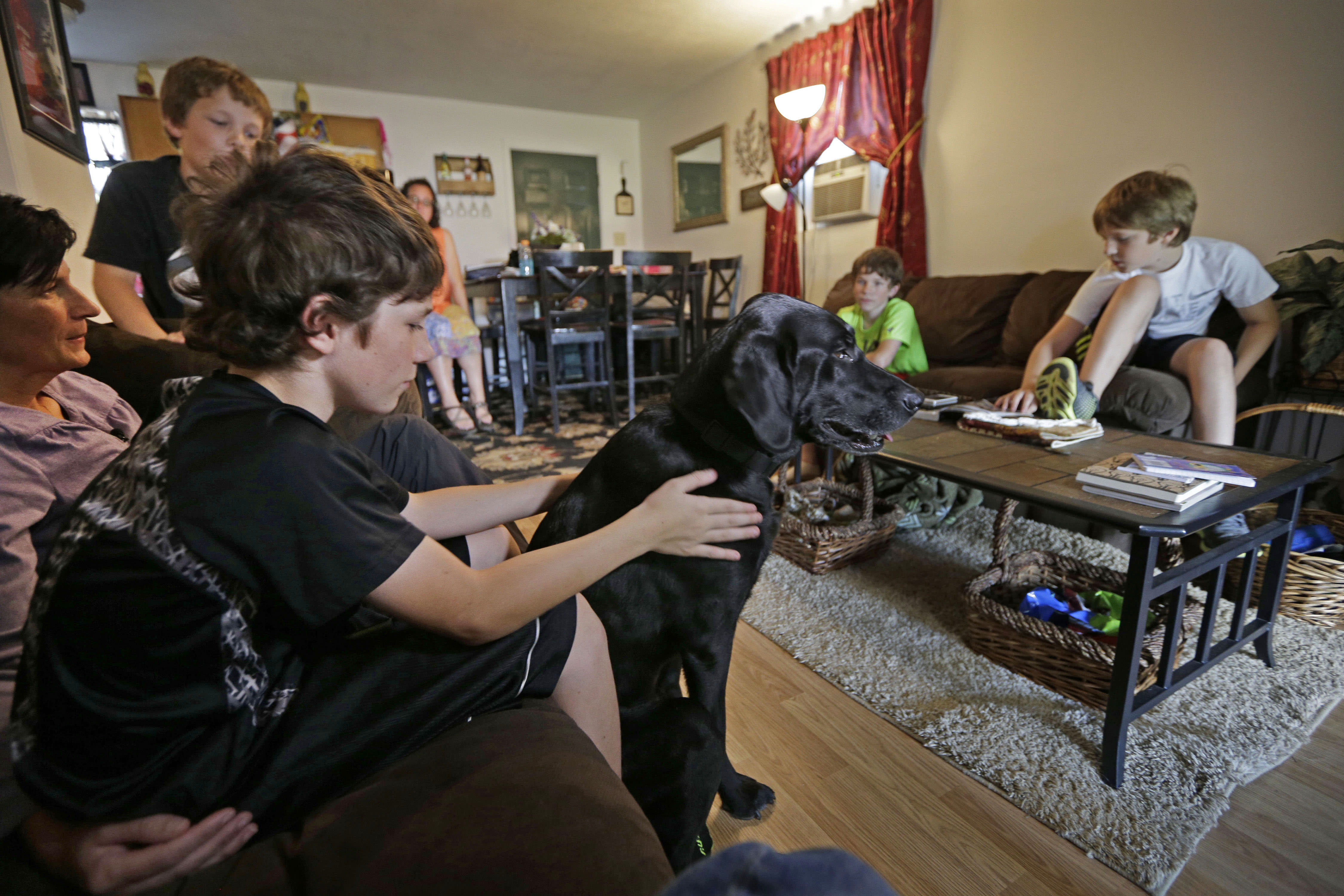 After vet felled by PTSD, service dog Honor aids family now
