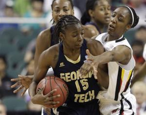 Maryland women top Ga. Tech 68-65 for ACC title