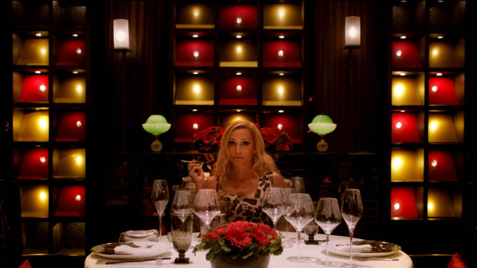 """This film publicity image released by Radius-TWC shows Kristin Scott Thomas in a scene from """"Only God Forgives."""" (AP Photo/Radius-TWC)"""