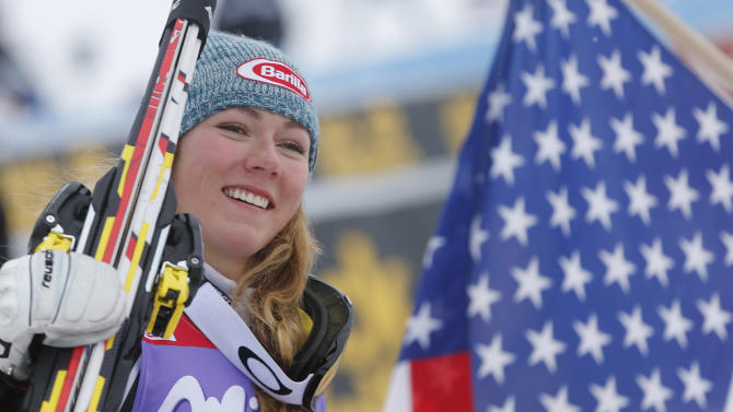 Shiffrin can bag WCup slalom title before Olympics