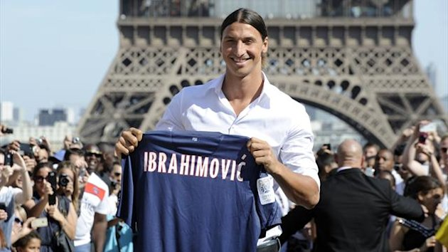 Zlatan Ibrahimovic, Eiffel tower