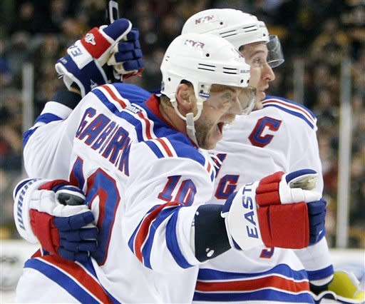 Gaborik scores 2 as Rangers beat Bruins 3-2 in OT
