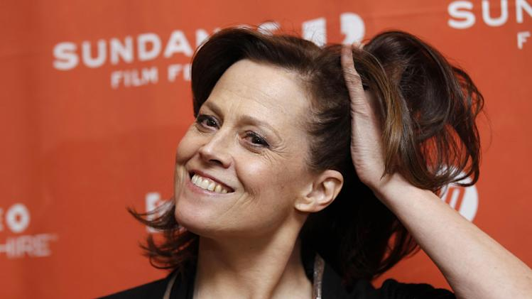 "Actress Sigourney Weaver poses at the premiere of ""Red Lights"" at the 2012 Sundance Film Festival in Park City, Utah on Friday, Jan. 20, 2012. (AP Photo/Danny Moloshok)"