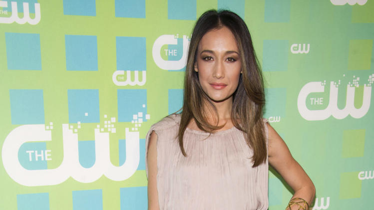 Maggie Q attends The CW Television Network's Upfront 2012 in New York, Thursday, May 17, 2012. (AP Photo/Charles Sykes)
