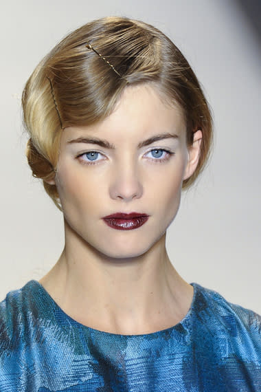 Take some retro fingerwave cues from Lela Rose, perhaps?