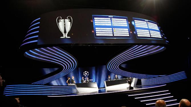 General view of the UEFA Champions League draw at the Grimaldi Forum, in Monaco, Thursday, Aug. 28, 2014