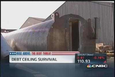 Surviving the debt ceiling ... with bomb shelters!