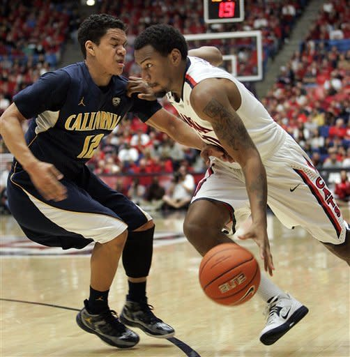 Cal beats No. 7 Arizona 77-69 for big road win