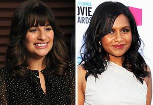 Lea Michele, Mindy Kaling | Photo Credits: Michael Yarish/FOX; Jeff Kravitz/FilmMagic