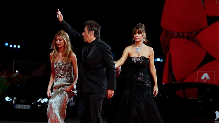 "Al Pacino, Lucila Sola and Camila Sola attend the red carpet for the movie ""The Humbling""at the 71st Venice Film Festival"