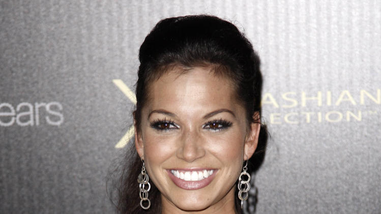 """FILE - This Aug. 17, 2011 file photo shows former """"The Vachelor"""" contestant Melissa Rycroft at the Kardashian Kollection launch party in Los Angeles.  Rycroft stars in the CMT reality show called """"Melissa & Tye.""""  (AP Photo/Matt Sayles, file)"""