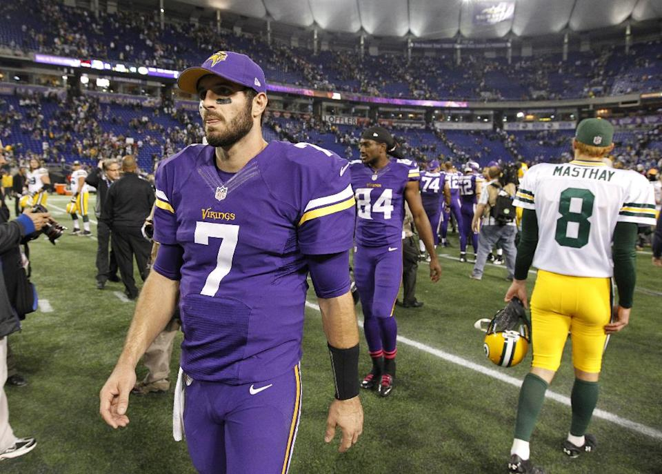 Frazier: Ponder to start for Vikings vs Dallas