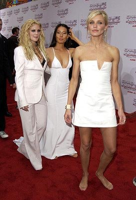 Premiere: Drew Barrymore, Lucy Liu and Cameron Diaz at the LA premiere of Columbia's Charlie's Angels: Full Throttle - 6/18/2003