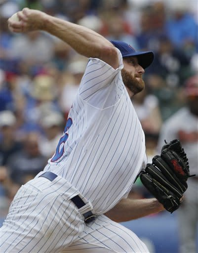 Dempster's shutout streak now 33 innings with win
