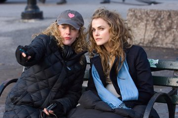 Director Kirsten Sheridan and Keri Russell on the set of Warner Bros. Pictures' August Rush