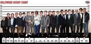 Hollywood actor's heights