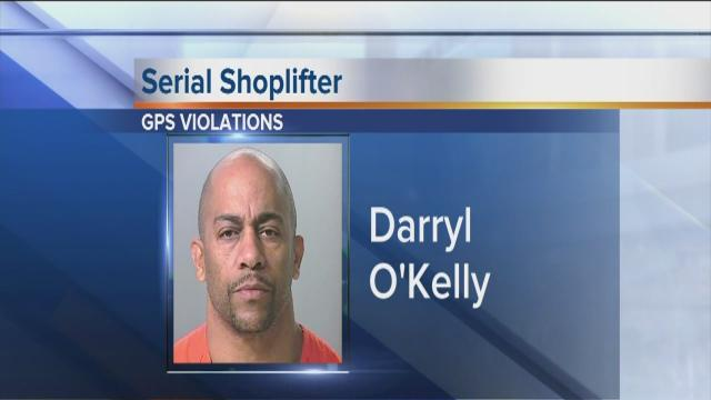 Serial shoplifter lost GPS device in shoplifting scuffle, not job interview