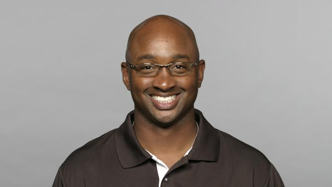 FILE - This 2010, file photo shows Cleveland Browns wide receivers coach George McDonald. McDonald has been hired for the same job with the Miami Hurricanes. McDonald joins the staff of new Hurricanes coach Al Golden, who announced the hiring Tuesday, Jan. 11, 2011. (AP Photo/File)