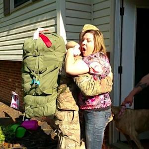 Soldier Shocks Mom with Surprise Return from Afghanistan