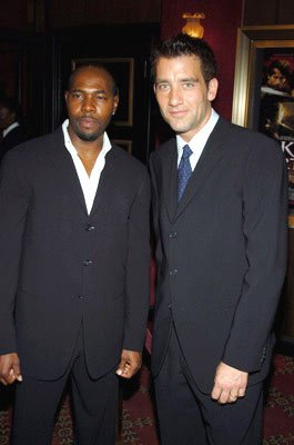 Director Antoine Fuqua and Clive Owen at the New York premiere of Touchstone Pictures' King Arthur