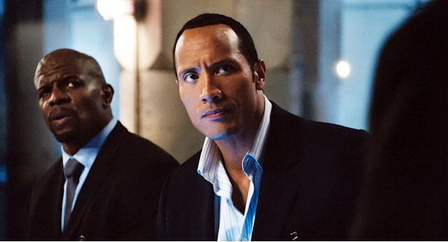 Warner Brothers Get Smart 2008 Terry Crews Dwayne 'The Rock' Johnson