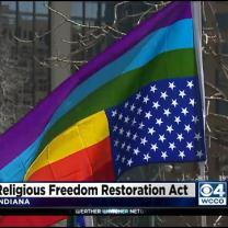 Hundreds Protest New Law In Indiana