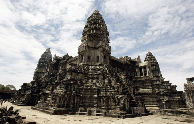 In this photo taken on June 28, 2012, Cambodia's famed Angkor Wat temples complex stands in Siem Reap province, some 230 kilometers (143 miles) northwest Phnom Penh, Cambodia. Airborne laser technolog