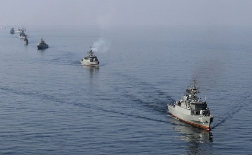 Iranian warships take part in naval exercises in the Strait of Hormuz in January 2012. Iran's Revolutionary Guards have scoffed at US claims it could clear Gulf waters of mines in case of conflict after Washington announced plans for a multinational anti-mine operation