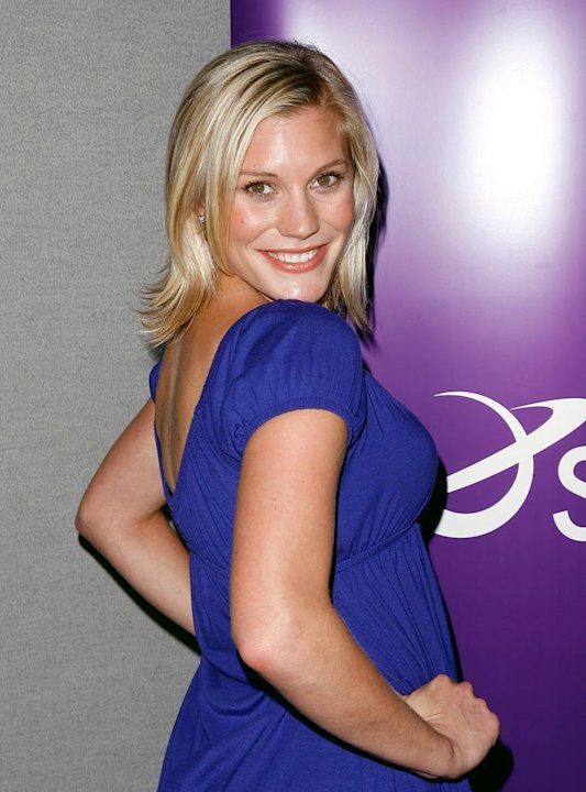 Katee Sackoff poses at the 2007 Comic-Con press panel held at the San Diego Convention Center on July 28, 2007 in San Diego, California.