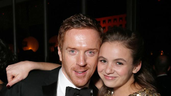 Actors Damian Lewis, left, and Morgan Saylor attend the Fox Golden Globes Party on Sunday, January 13, 2013, in Beverly Hills, Calif. (Photo by Todd Williamson/Invision for Fox Searchlight/AP Images)