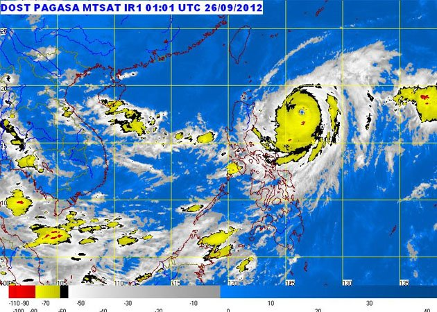 MTSAT ENHANCED-IR Satellite Image  9:32 a.m., 26 September 2012 (PAGASA PHOTO)