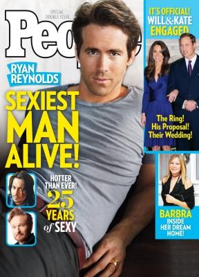 "Ryan Reynolds on the cover of People's ""Sexiest Man Alive"" 2010 issue  --"