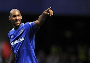 Chelsea's Anelka celebrates after scoring against Burnley during their English Premier League soccer match in London