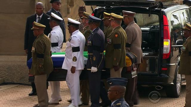 Mandela's casket on view as world says goodbye