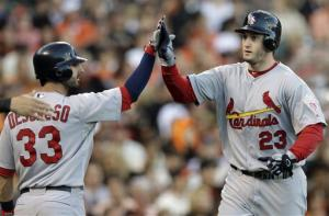 Beltran, Freese hit 2-run HRs, Cards beat Giants