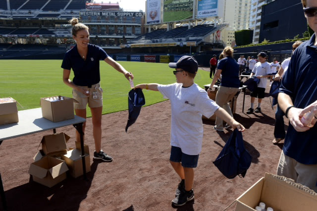 Mercury Insurance and the San Diego Padres start Independence Day weekend celebration with a salute to U.S. troops stationed in Afghanistan by assembl...
