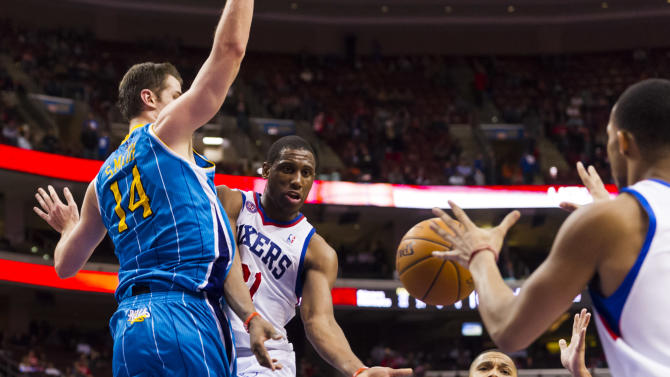 NBA: New Orleans Hornets at Philadelphia 76ers