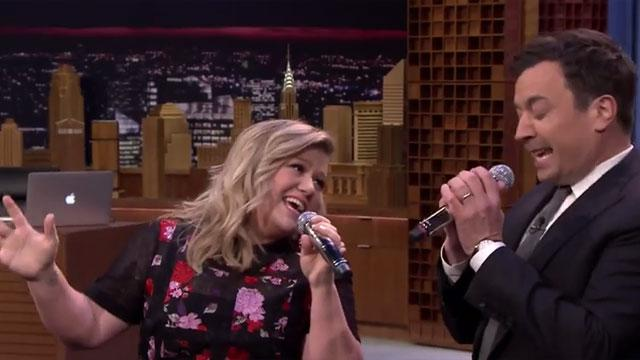 Kelly Clarkson and Jimmy Fallon Perform 'History of Duets' In Under 5 Minutes