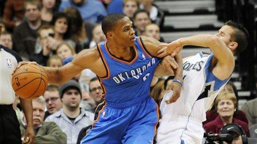 Thunder survive against Timberwolves, 104-100