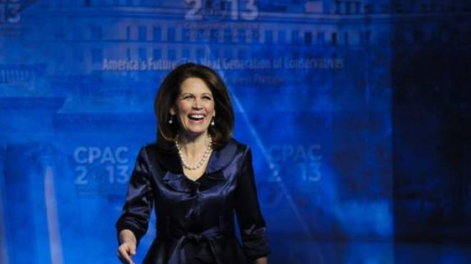 Michele Bachmann in happier times: The lawmaker is reportedly under investigation by the feds.