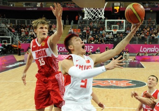 Kirilenko (left), a 2.06m centre, scored 16 points and grabbed nine rebounds