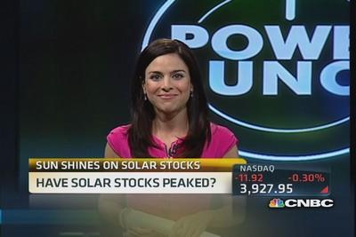 Sunny outlook for solar stocks