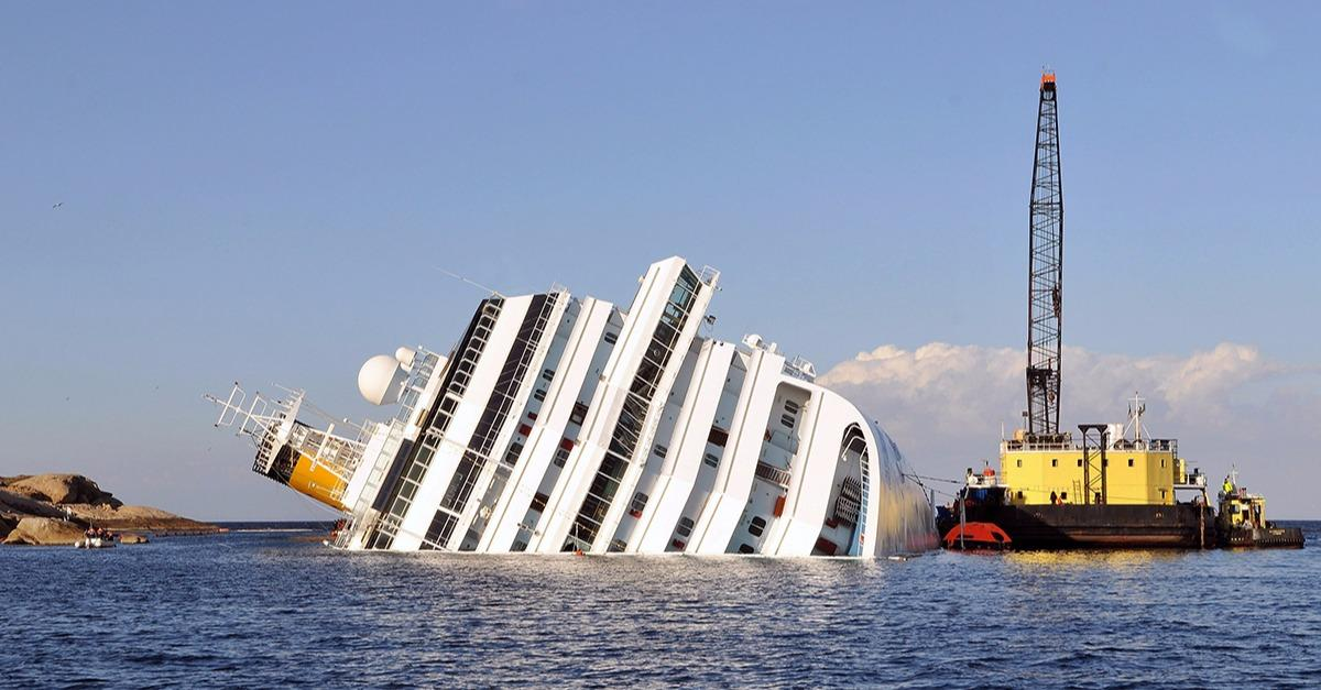 The Inside Of This Sunken Cruise Ship Is Creepy.