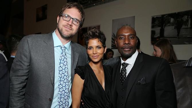 Director Brad Anderson, Halle Berry and Morris Chestnut at TriStar Pictures World Premiere of 'The Call', held at the ArcLight Hollywood on Tuesday, Mar. 5, 2013 in Los Angeles. (Photo by Eric Charbonneau/Invision for Screen Gems/AP Images)