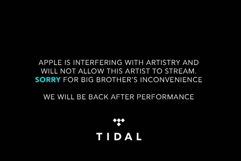 Tidal blames Apple for shutting down its livestream of a Drake show