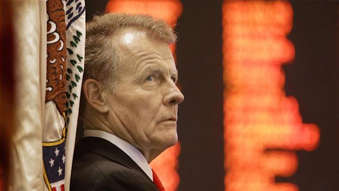 In this Tuesday, May 21, 2013 photo Illinois Speaker of the House Michael Madigan, D-Chicago, listens to lawmakers while on the House floor during session at the Illinois State Capitol in Springfield, Ill. Illinois lawmakers scramble to finish up business in their spring session with votes to legalize gay marriage, pension reform, and regulate hydraulic fracturing for oil and gas predicted, but uncertain.(AP Photo/Seth Perlman)