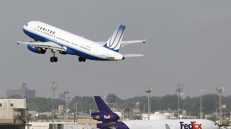 A United Airbus A320 passenger plane takes off at Newark Liberty International airport Saturday, Aug. 11, 2012, in Newark, N.J.  Airline pilots who fly certain Airbus jets that first came into service more than two decades ago have reported over 50 episodes of multiple electrical failures in the cockpit. (AP Photo/Mel Evans)