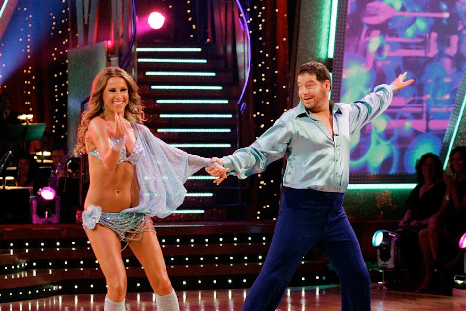 Edyta Sliwinska and Jeffrey Ross perform a dance on the seventh season of Dancing with the Stars.
